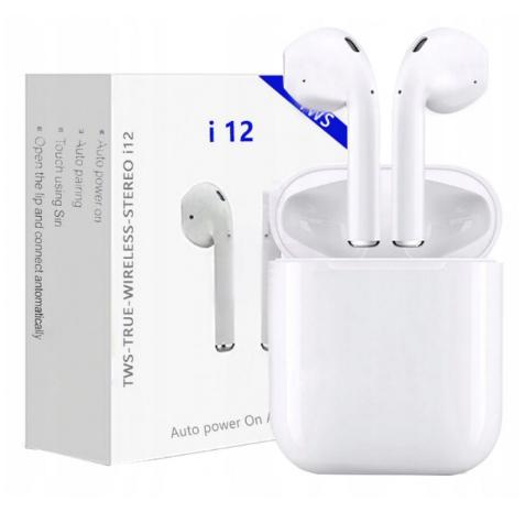 Навушники бездротові Bluetooth HBQ I12 TWS Sensor Білі з Кейсом