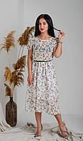 Шифоновое летнее платье белое, фото 1