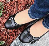 Туфли женские на низком ходу из натуральной кожи от производителя модель ОУ10817, фото 4