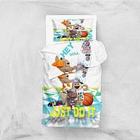 Детское постельное белье для подростков Eponj Home 3D Micro Satin Hey Beyaz полуторный размер