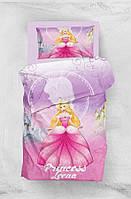 Детское постельное белье для подростков Eponj Home 3D Micro Satin Leena Lila полуторный размер
