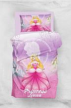Детское постельное белье для подростков Eponj Home 3D Micro SatinLeena Lila полуторный размер