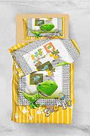 Детское постельное белье для подростков Eponj Home 3D Micro Satin Stompy Sari-Yesil полуторный размер