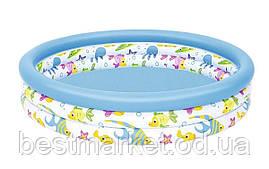 Надувний Дитячий Басейн для Плавання і Ігор Bestway 122 х 25 см Круглий Басейн