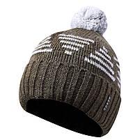 Вязаная мужская шапка с бубоном 44, фото 3