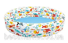 Надувной Детский Бассейн для Плавания и Игр Intex Аквариум 132 х 28 см Круглый Бассейн
