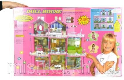 Ляльковий будиночок «Doll house» великий ляльковий дім 245 деталей