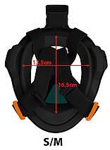 Маска для снорклінгу (плавання) SportVida SV-DN0020 Size S/M Black/Navy Blue, фото 3