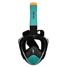 Маска для снорклінгу (плавання) SportVida SV-DN0020 Size S/M Black/Navy Blue, фото 2