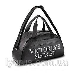 Чорна фітнес-сумка Victoria's Secret для тренувань, спорт. Кожзам