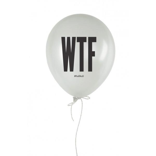 """Кулька надувна """"WTF?"""" білий 30 см"""