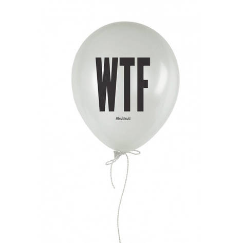 """Кулька надувна """"WTF?"""" білий 30 см, фото 2"""