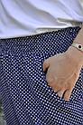 Миранда. Укороченные летние брюки женские больших размеров. Синий ромб., фото 6