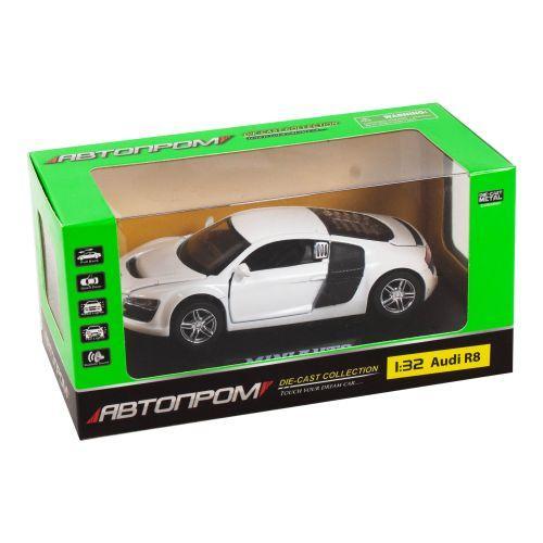 """Машинка инерционная """"Audi R8"""" из серии """"Автопром"""" (белая) 3201D"""