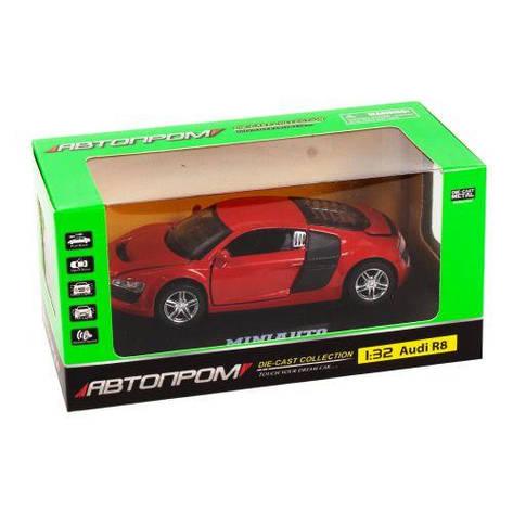 """Машинка инерционная """"Audi R8"""" из серии """"Автопром"""" (красная) 3201D, фото 2"""
