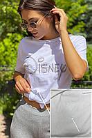 Базовая футболка с вышивкой и дефектом LUREX - белый цвет, S (есть размеры)
