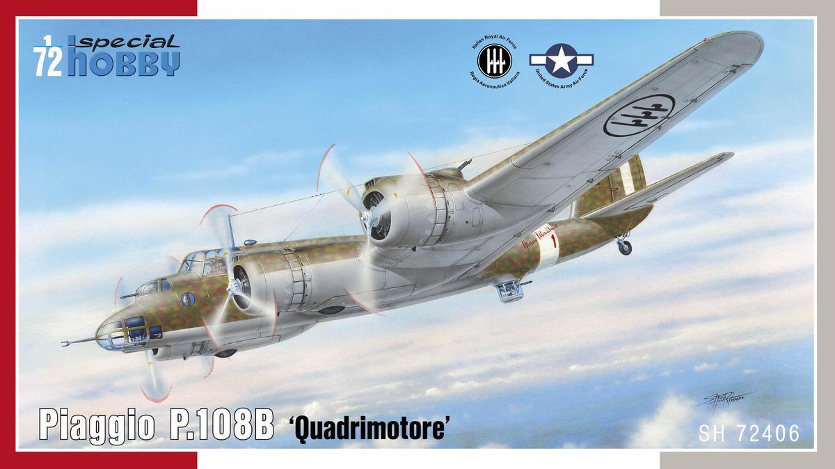 Piaggio P.108B. Сборная модель итальянского бомбардировщика в масштабе 1/72. SPECIAL HOBBY SH72406