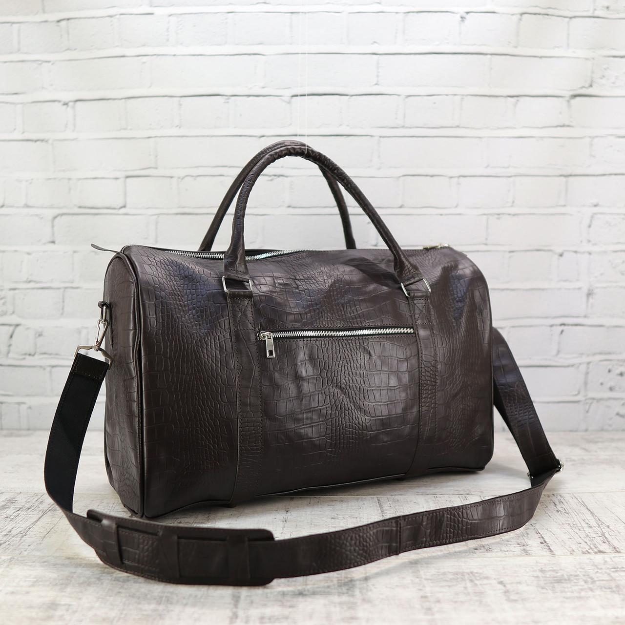 Дорожная сумка louis коричневая из натуральной кожи kayman