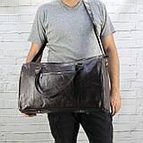Дорожная сумка louis коричневая из натуральной кожи kayman, фото 2