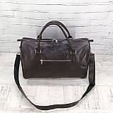 Дорожная сумка louis коричневая из натуральной кожи kayman, фото 4