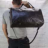 Дорожная сумка louis коричневая из натуральной кожи kayman, фото 5