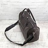 Дорожная сумка louis коричневая из натуральной кожи kayman, фото 6