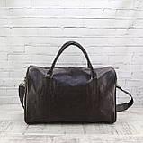Дорожная сумка louis коричневая из натуральной кожи kayman, фото 7