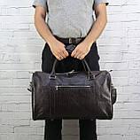 Дорожная сумка louis коричневая из натуральной кожи kayman, фото 8