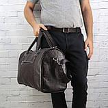 Дорожная сумка louis коричневая из натуральной кожи kayman, фото 9