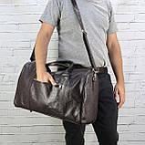 Дорожная сумка louis коричневая из натуральной кожи kayman, фото 10