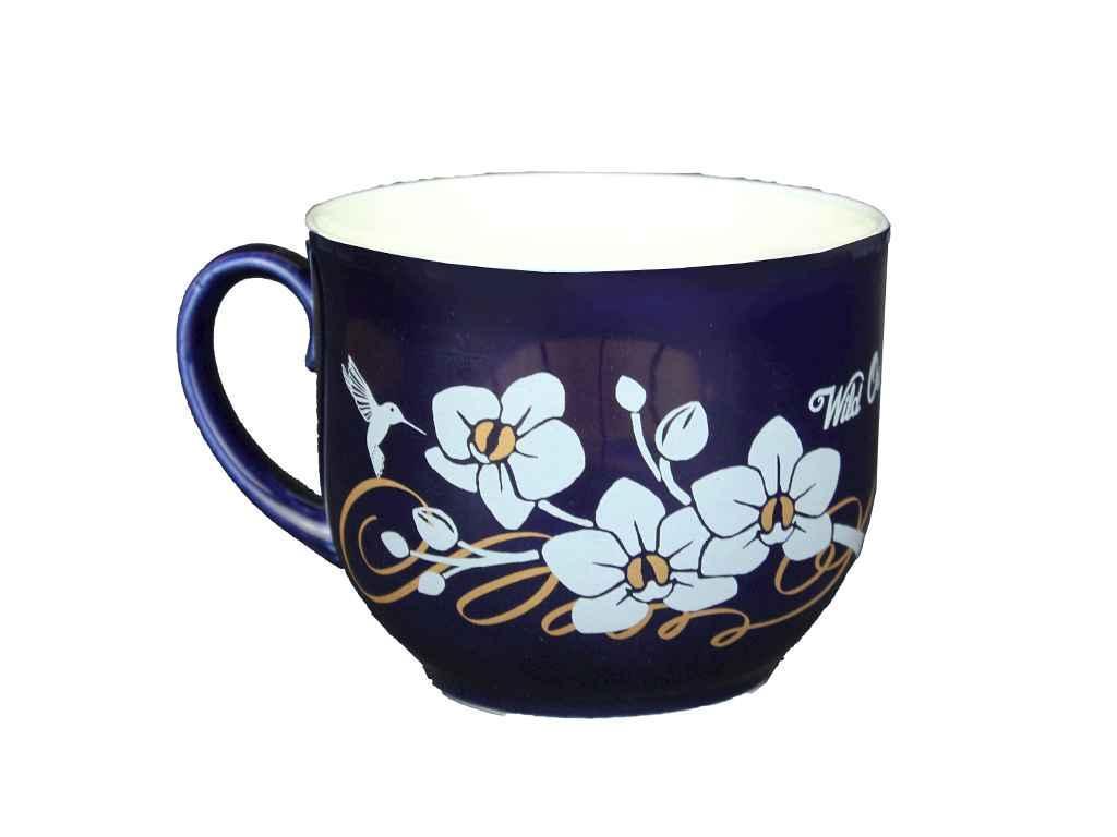 """Чашка 500 мл Кобальт с рисунком """"Авангард"""""""