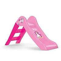 Дитяча гірка UNICORN пластикова, рожева, 47х70х111см, у кор. //