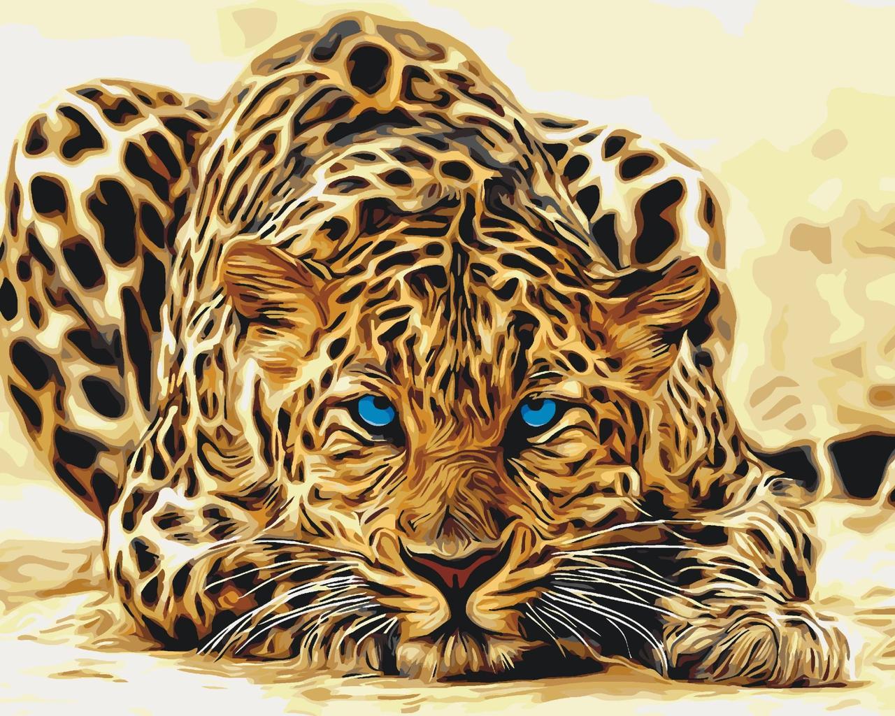 КНО2450 Розфарбування по номерах Дика кішка, Без коробки