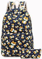 Рюкзак женский Doggy 2 в 1 Синий, фото 1