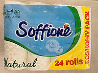 Туалетная бумага Soffione Natural трехслойная 24 штуки