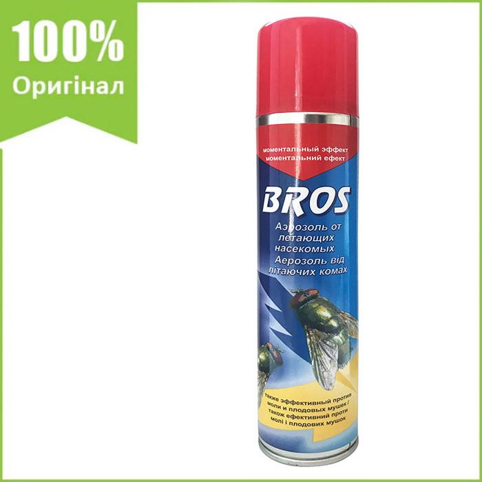 Аэрозоль от летающих насекомых (мух, комаров, бабочек, моли и т.д.) 250 мл от BROS (оригинал, Польша)