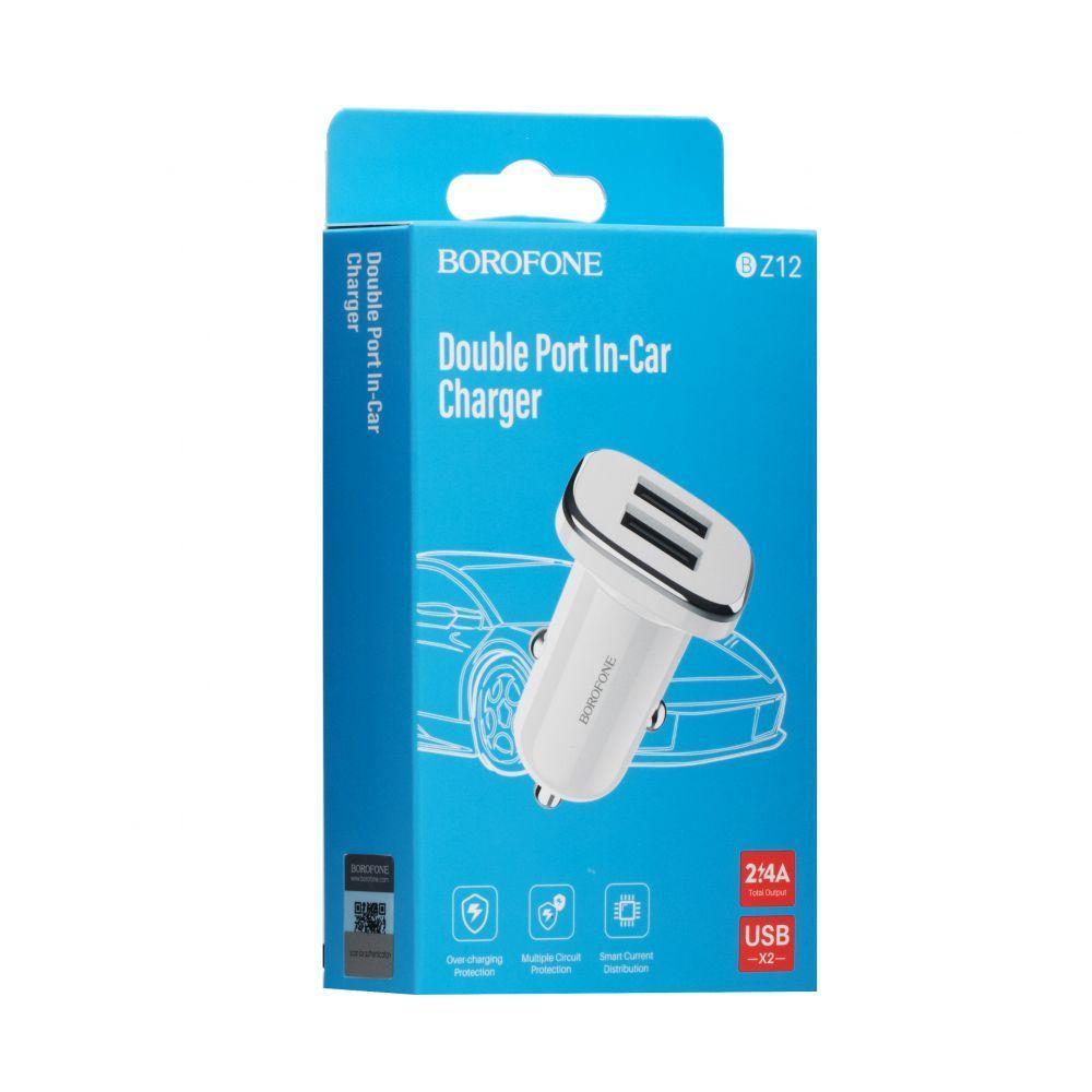 Авто зарядное устройство Borofone BZ12 2.4A 2 Usb SKL11-229247