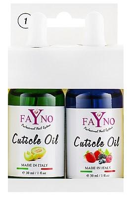 Набор масла для кутикулы Fayno №1 30 мл + 30мл (дыня и ягодный микс)