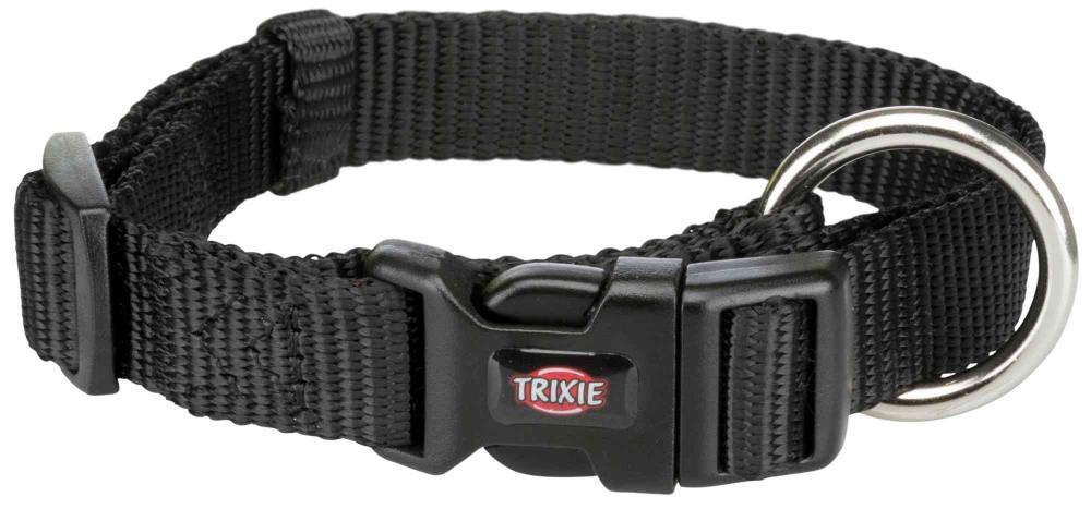 Нашийник нейлон M-L 35-55 см 20 мм Premium Чорний Trixie для собак