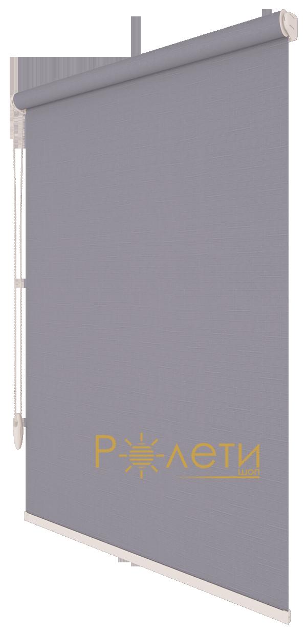 Ролета тканевая Е-Mini Лен 7436 Серый