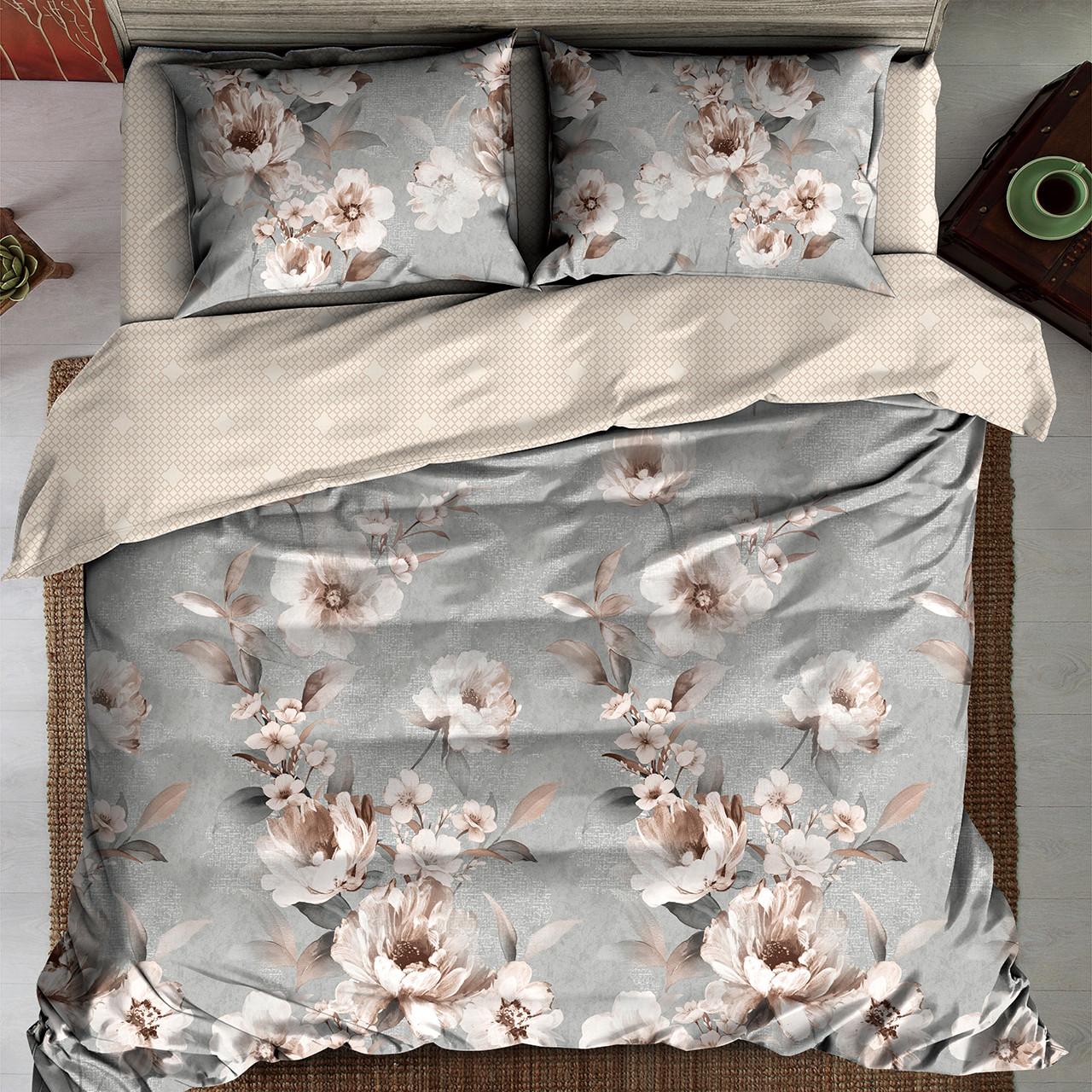 Семейный комплект постельного белья LINA ЦВЕТЫ
