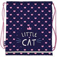 Сумка рюкзак для обуви Smart Little Cat синяя