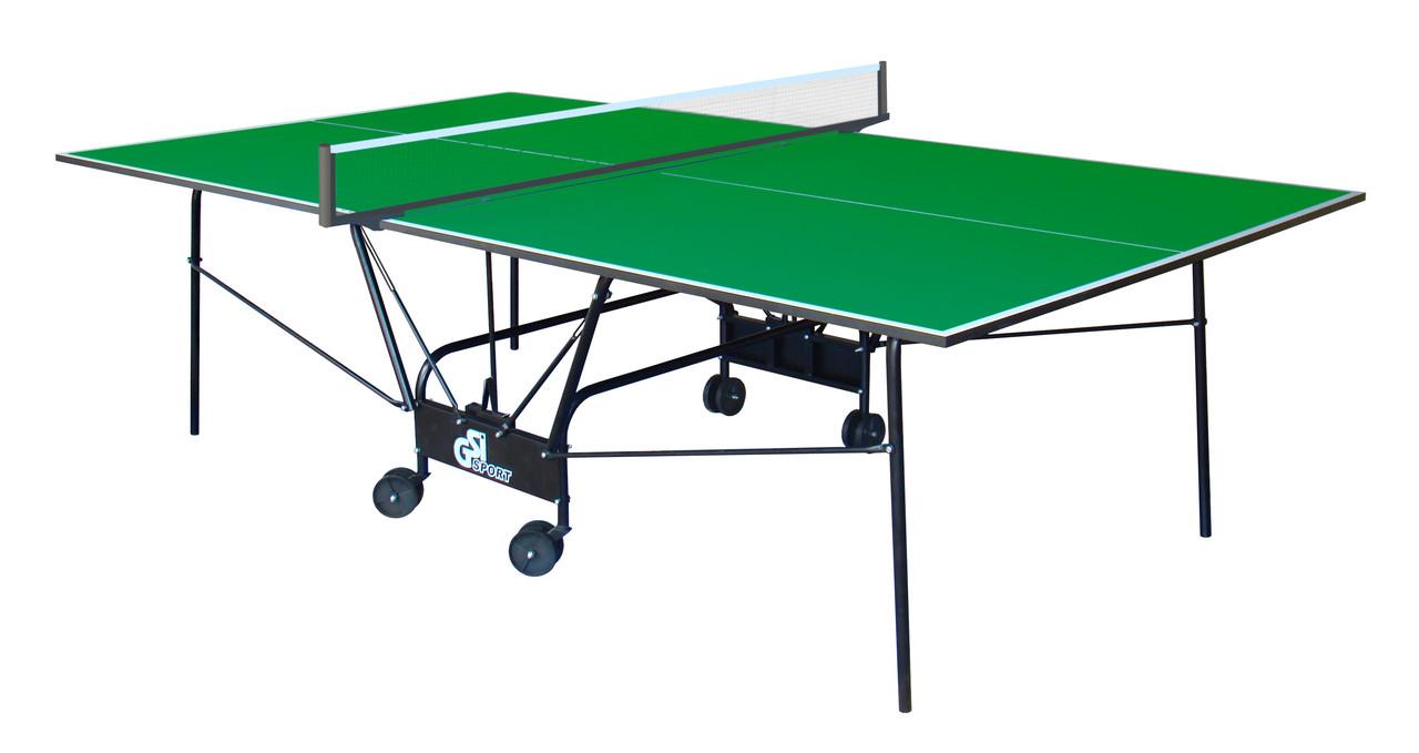 """Тенісний стіл для приміщень """"Gsi-sport Light Compact зелений, (016-0013)"""