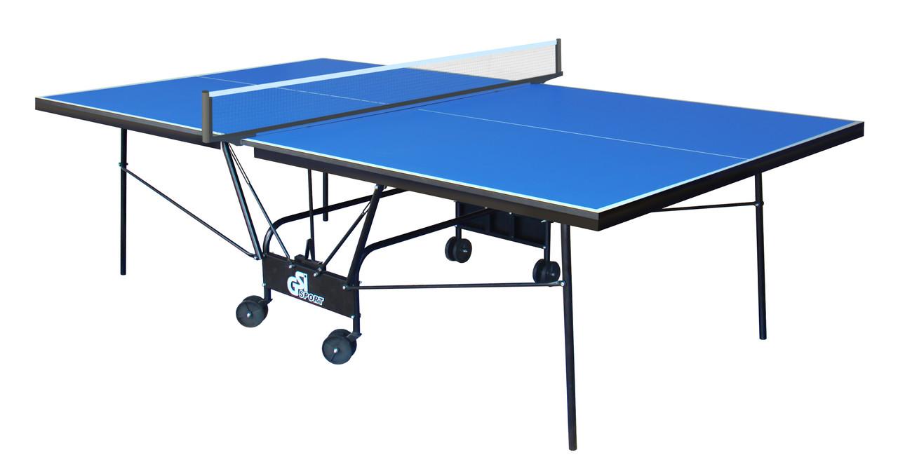 """Теннисный стол для помещений """"Gsi-sport"""" Compact Premium синий, (016-0016)"""