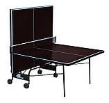 """Теннисный стол уличный """"Gsi-sport"""" Compact Street коричневый, (016-0019), фото 2"""
