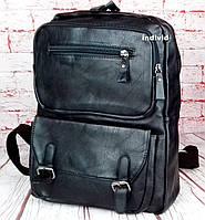 Кожаный рюкзак. Мужской портфель. Сумка для ноутбука, для документов. СЛ03