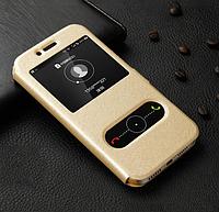 Чехол книжка Momax для Huawei P8 Lite золотой (хуавей п8 лайт)