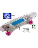 """Пенни борд ( скейтборд , скейт ) Penny Board """"Fish Skateboard Original"""" Музыкальная и светящаяся дека!, фото 1"""