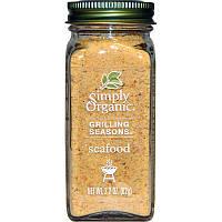 Simply Organic, Органические Специи для гриля, Для морепродуктов, (62 г)