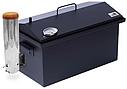 Домашняя коптильня горячего и холодного копчения с дымогенератором и термометром окрашенная 520х300х280, фото 2